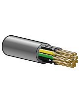 FLEXTEL7G2.5 20A 12.5mm Flexible Control Cable – 6 Cores + Earth