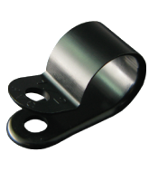 "NP12.7B 12.7mm Nylon ""P"" Clip – 4.6mm Mounting hole"