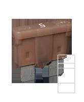 QVATOF5BL 5 Amp Standard ATO Blade Fuse