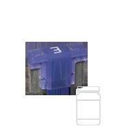 QVLPM3/25 3 Amp Low Profile Mini Blade Fuse