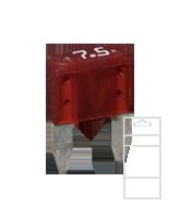 QVMIN7BL 7.5 Amp Mini Blade Fuse