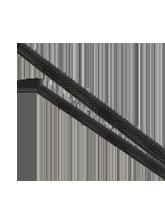 ES0310 10mm Expanded Diameter Black Flexible Braided Sleeving