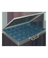 BX21 21 Way Metal Compartment Box