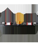 RHBAR1250-NT10 Black Alloy Mine Bar with Rotating Beacon & Worklight