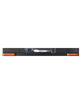 RHBAR1250-NT2L Black Alloy Mine Bar with Slimline Beacon – Left Hand Exit